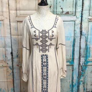 Free People Desert Winds Embroidered Maxi Dress